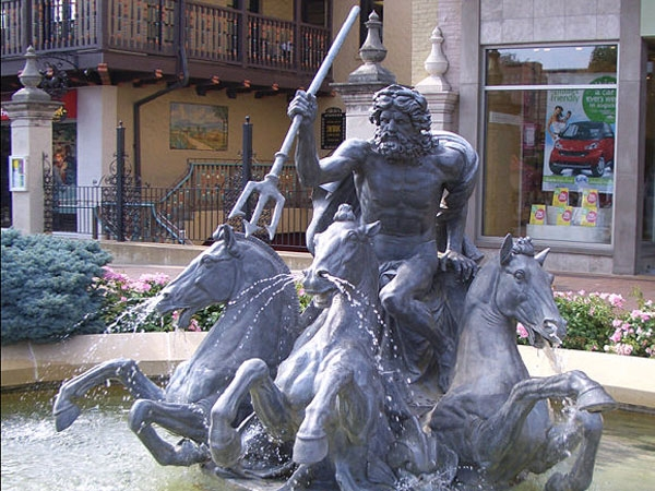 Neptune Fountain on the County Club Plaza