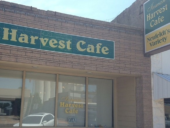 The Inman Harvest Cafe, which has a great German buffet at lunch on Thursdays