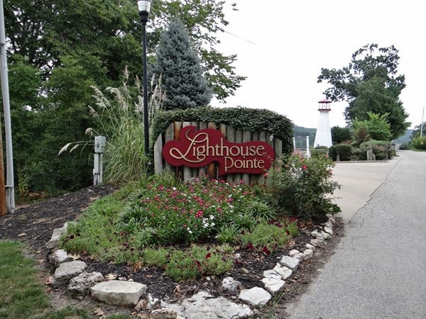 Entrance to Lighthouse Pointe Condominiums