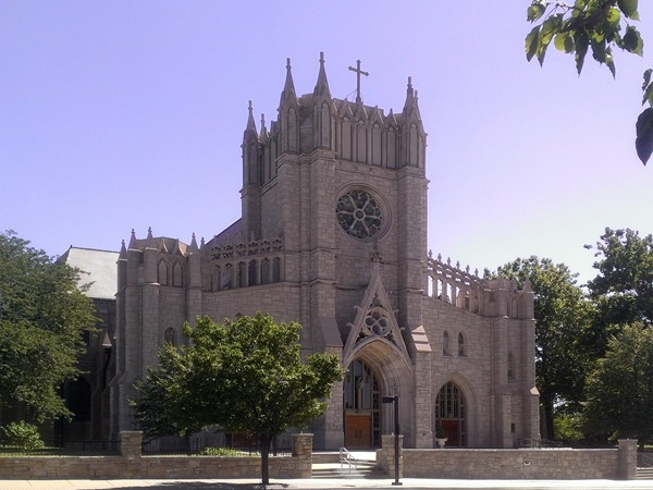 The majestic Catholic church erected entirely in stone at the Plaza