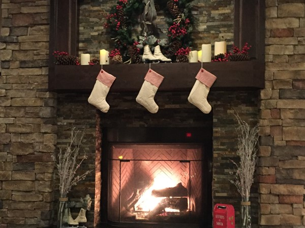 Warm up by the beautiful Old Kinderhook fireplace
