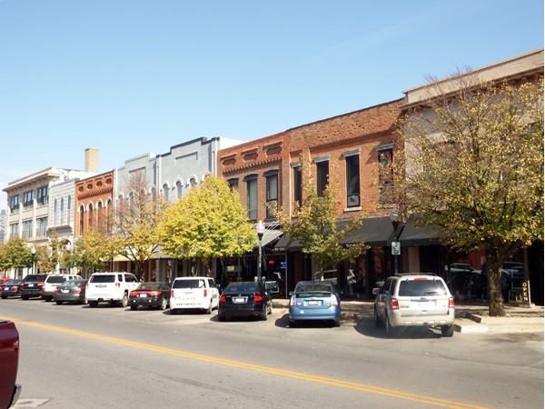 Mass Street in Downtown Lawrence