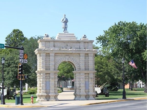 Grand Army of the Republic Memorial Arch at Heritage Park