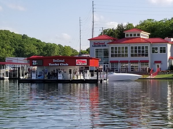 Redhead Yacht Club is a popular waterfront restaurant in Osage Beach
