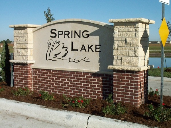 Spring Lake subdivision in the southwest part of Newton