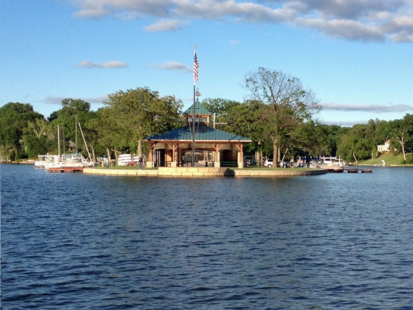 View of C Point Pavillion from the lake