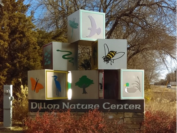 Dillon Nature Center. 100 acre park with a pond, fishing, trails and a 10,000 sq. ft. visitor center