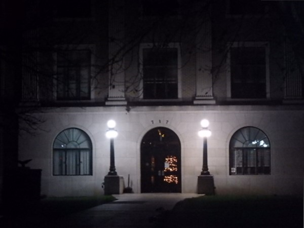 Christmas time at the Lyndon Courthouse