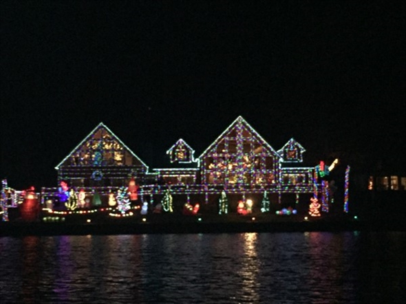 Celebration Cruise allows you to view the beautiful Christmas lights by water