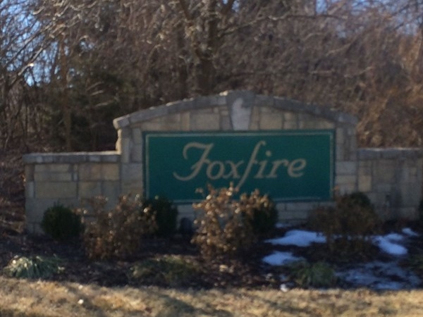 Foxfire subdivision in Southwest Lawrence