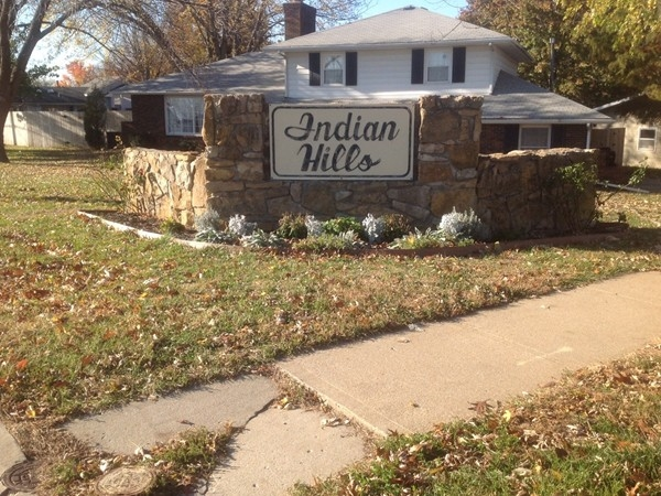 The entrance to Indian Hills