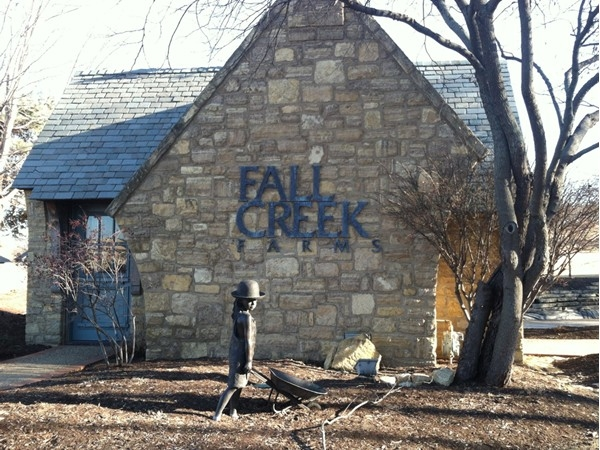 Incredible entryway into Fall Creek Farms neighborhood in Lawrence