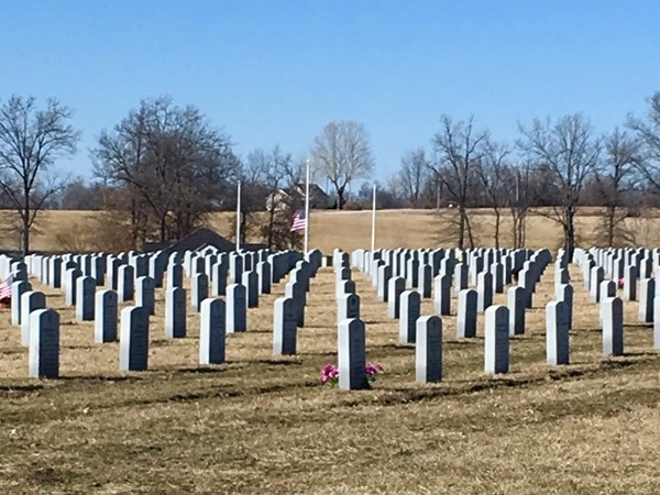 The peaceful and beautiful Missouri Veterans Cemetery