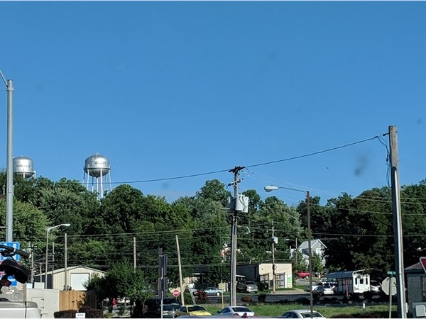 Water tower over our town