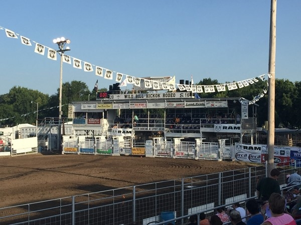 Annual Wild Bill Hickok Rodeo is at the beginning of August every year