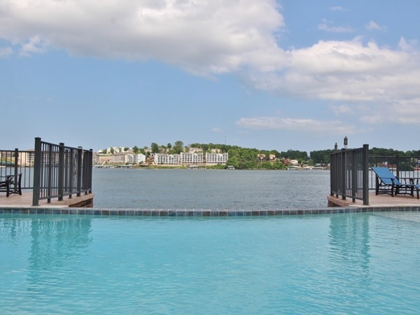 Killer view from the pool at the Hamptons. 19MM - awesome place to be on the lake