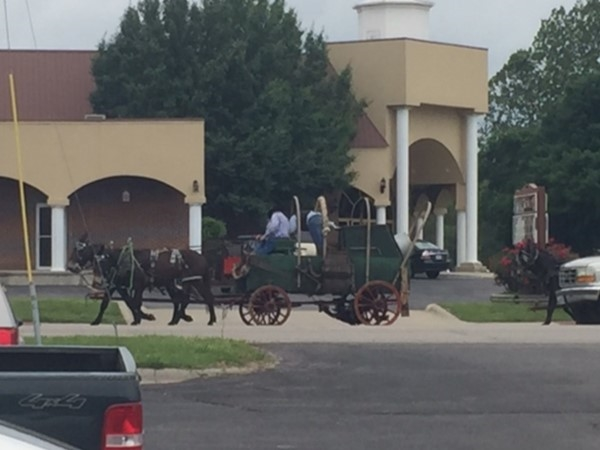 Wagons rolled thru downtown Lebanon last month