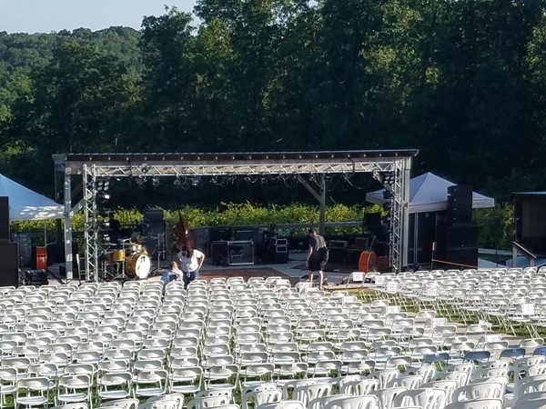 Shawnee Bluff Vineyard Stage - Great place for watching concerts and fireworks