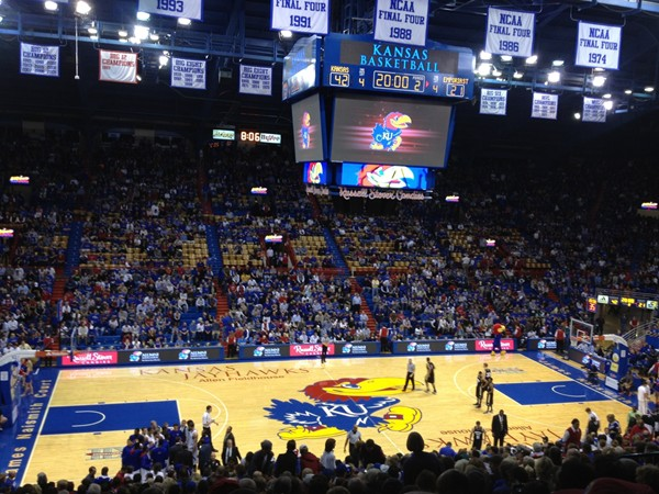 Allen Fieldhouse, home of the Kansas University Jayhawks!