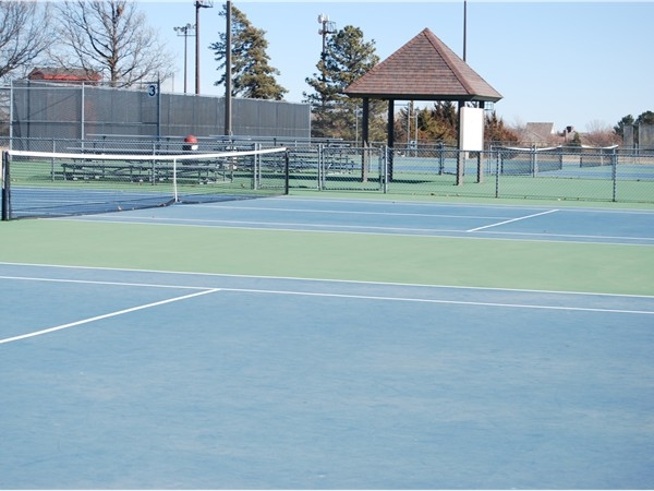 Tennis is a popular sport in the schools and community.  Hesston has 10 courts.