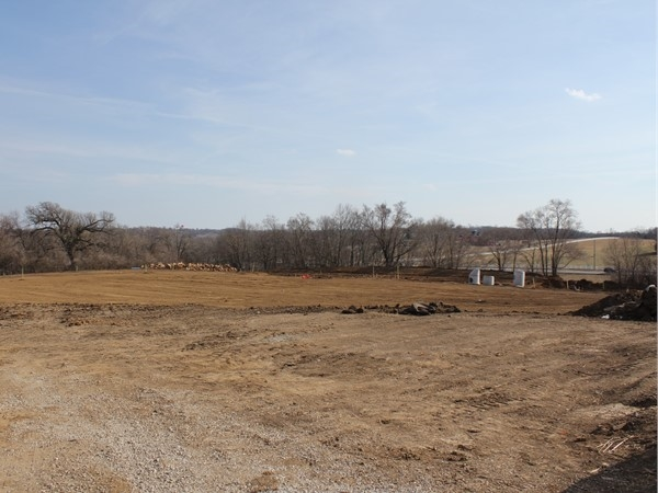 Future site of roads and new lots