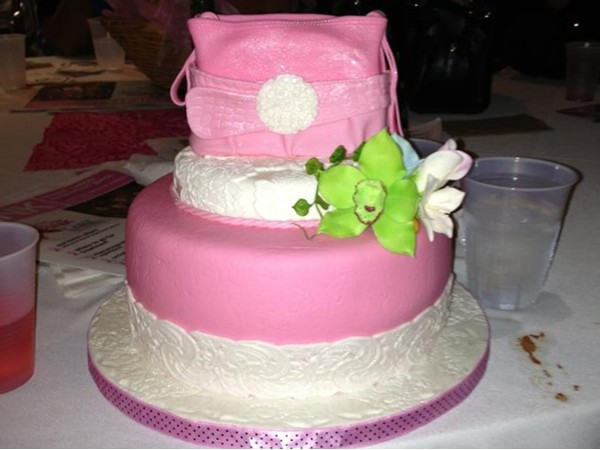 Custom cake made for a local charity event, Totes for TaTa's, supporting breast cancer research