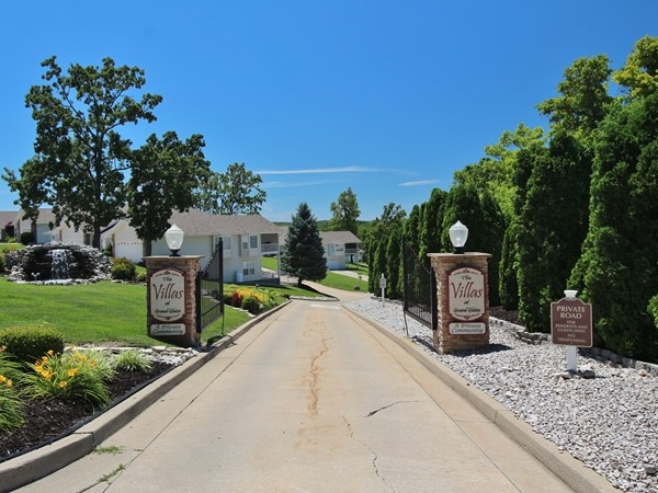 Gated entry at the Villas at Grand Glaize