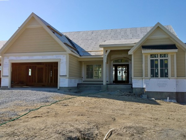 Model home on lakefront lot in the Reserve at McFarland Farm