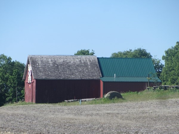 Pretty barns along the country side