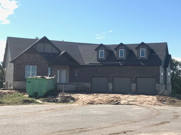 Custom home being built in Bearhill Estates