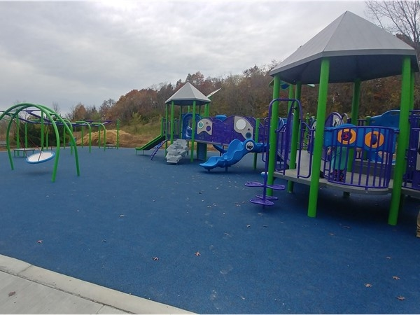The new all-Inclusive park at Cave Hallow Park is a great place for kids and adults to have fun