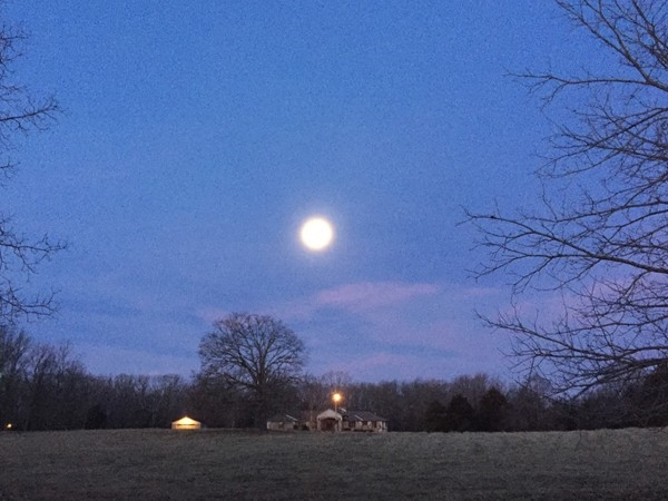 Morning moon in Southern Missouri. This is where I like to call home