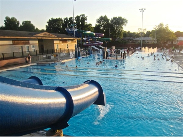 Memorial Pool is an oasis on hot summer days. We love all of the slides