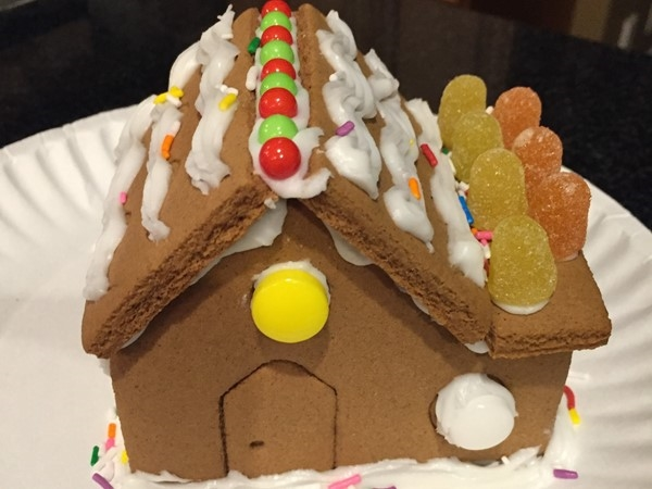 Making gingerbread houses is the perfect way to spend a snow day while you're stuck inside