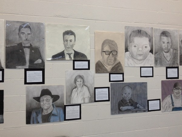 Lafayette Co C-1 Middle School Art display