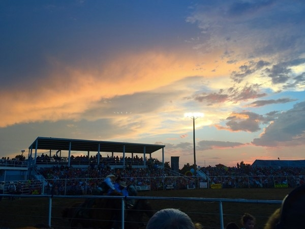 Enjoying an evening at the Pretty Prairie rodeo