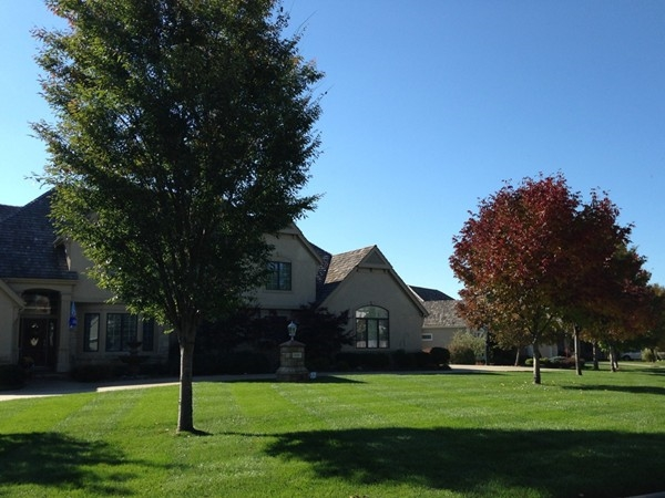 October day in Foxfire neighborhood in Lawrence