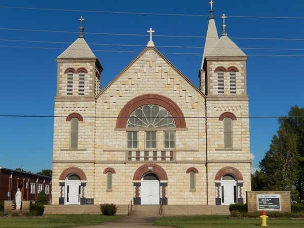 St. Marys Catholic Church. Come see the historic architecture of Ellis
