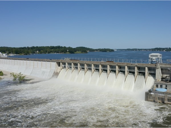 The spillways are open at Bagnell Dam