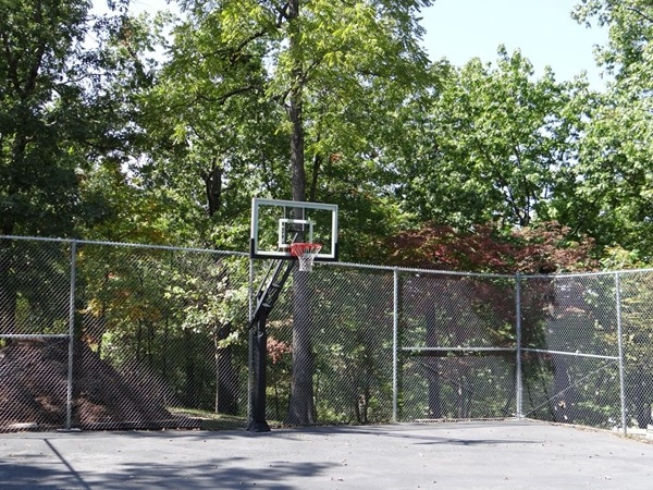 Basketball courts at the Knolls
