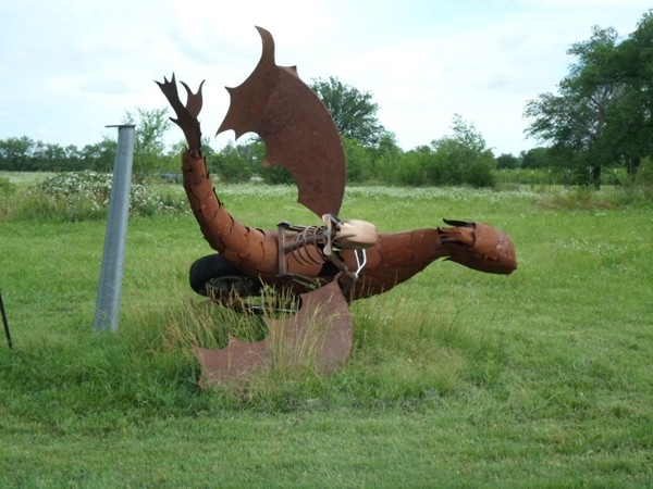 Now that's yard art