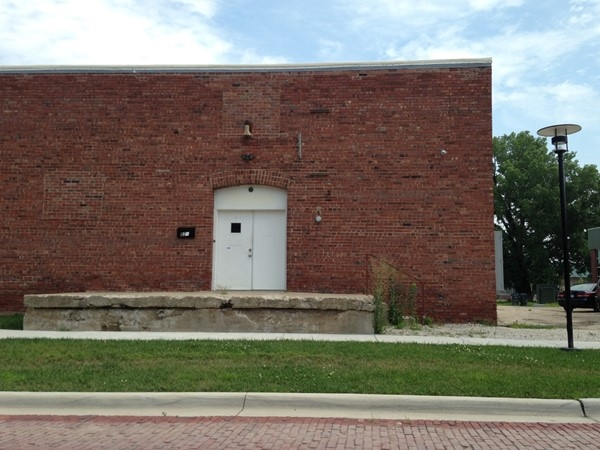Historic brick building in the Warehouse Arts District in East Lawrence