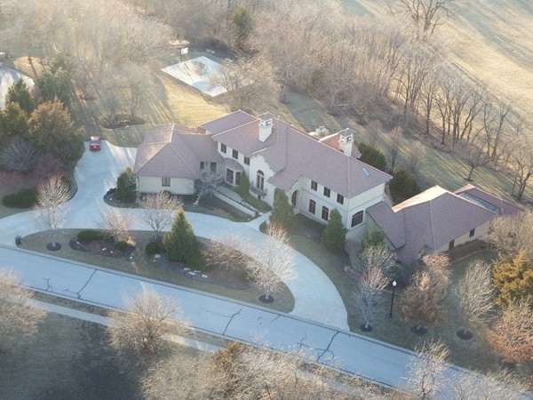Homes from above in Fall Creek Farms