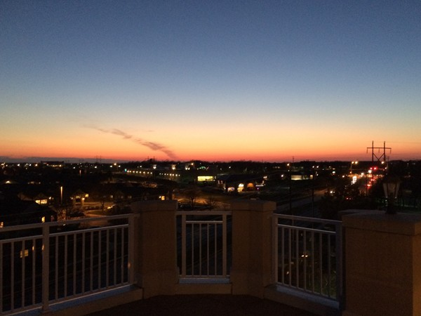 Sunset view from a Bella Sera penthouse patio
