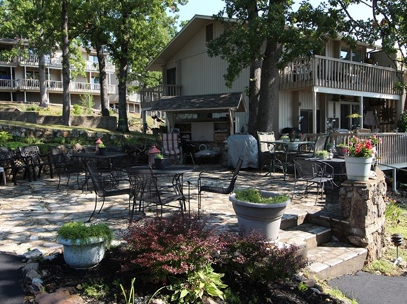 Lakeside patio to enjoy on nice warm days
