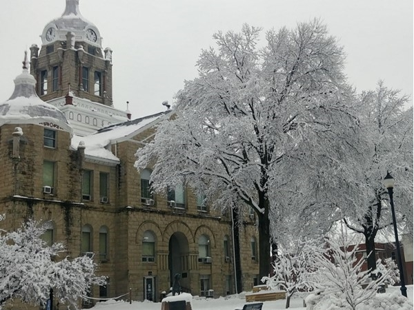 Johnson County Courthouse after the 2019 winter storm