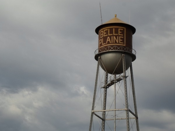 Water tower overlooks Belle Plaine