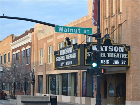 The Stiefel Theatre for the Performing Arts is located in downtown Salina