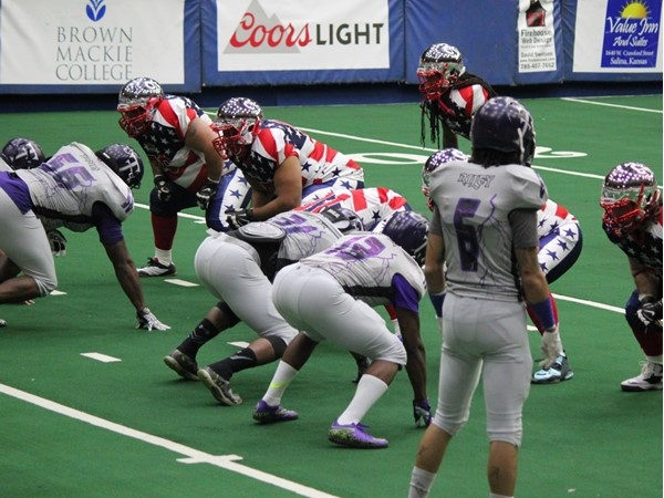 Indoor football teams, Salina Liberty vs Topeka Thunder. Salina won 89-6
