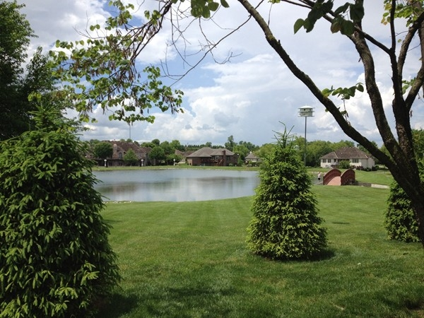 Cooper Estates stocked fishing pond is a unique neighborhood bonus